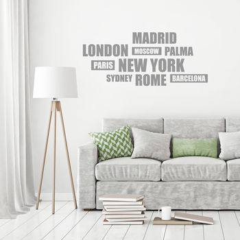 Cities Wall Sticker