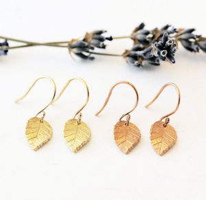 Gold Leaf Earrings - earrings