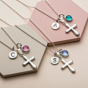 Christening Necklace With Birthstone - necklaces & pendants