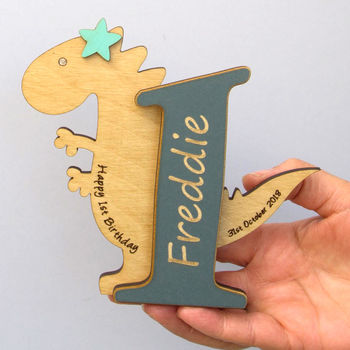 1st Birthday Dinosaur Card Keepsake