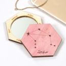 Personalised Horoscope Hexagon Compact Mirror For Her