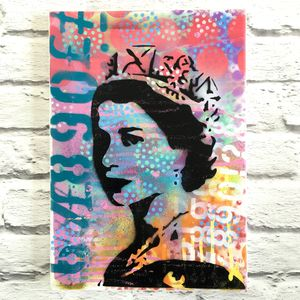 Banksy Style Queen Painting