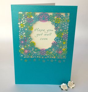 Get Well Soon Delicate Cut Card - get well soon cards