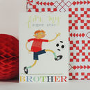 Football Brother Greetings Card