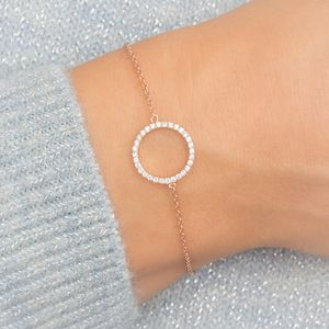 Personalised Crystal Circle Of Life Bracelet - jewellery sale
