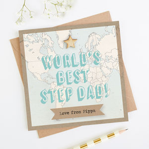 World's Best Step Dad Card Father's Day