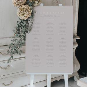 Modern And Simple Table Plan