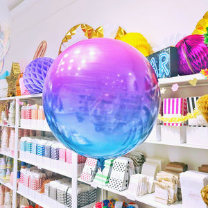 Unicorn Ombre Orb Balloon Party Decoration