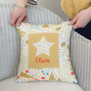 Personalised Woodland New Baby Name Cushion