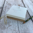 Personalised Memo Block Notepad With Oak Base