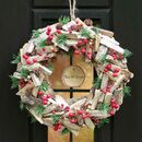 Personalised Winter Woodland Christmas Wreath