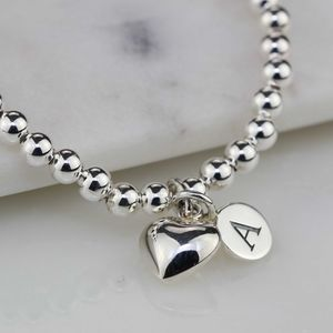 Personalised Children's Silver Heart Bracelet - jewellery gifts for children