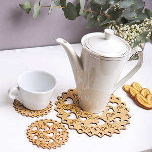 Lots Of Love Tea/Coffee Placemat And Coaster Gift Set