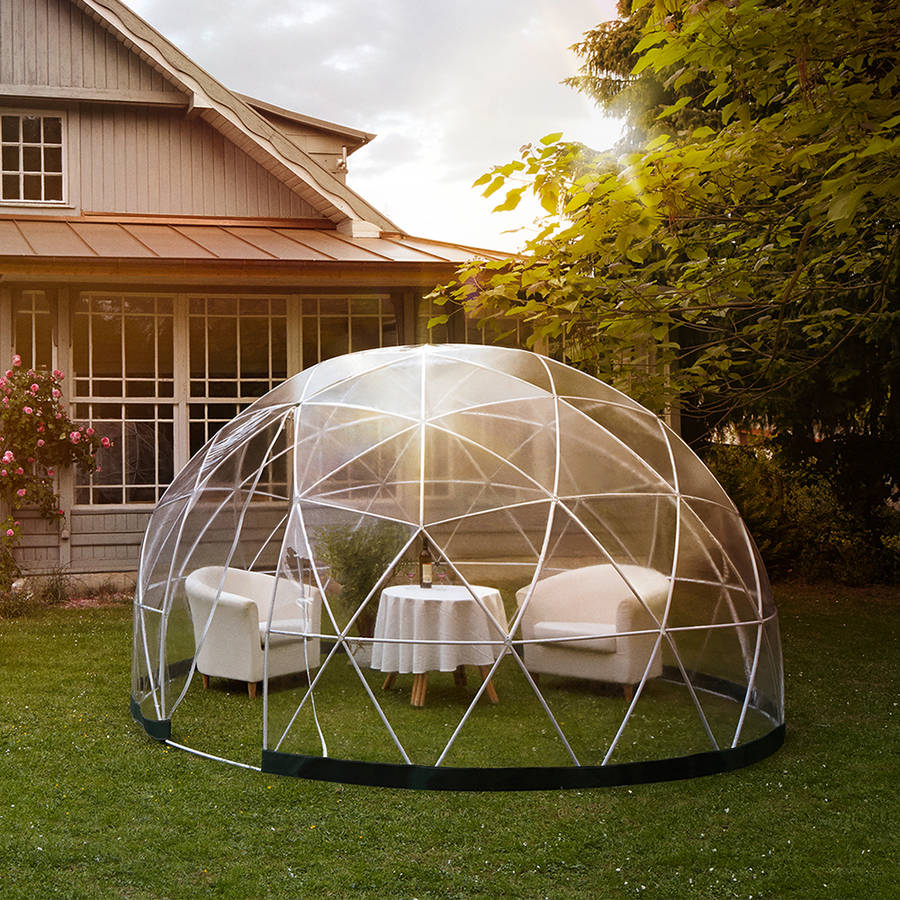 garden igloo 360 dome with optional canopy cover by. Black Bedroom Furniture Sets. Home Design Ideas