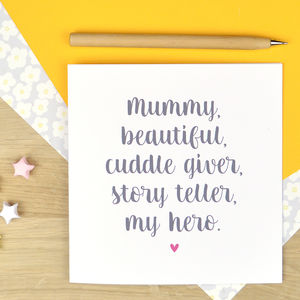 Personalised Card For Mum - sentimental cards