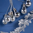 LED String Of Silver Light Bulbs