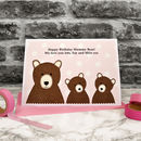 'Mummy Bear' Personalised Birthday Card From Children
