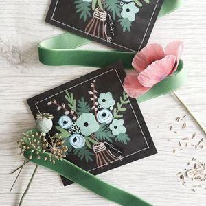 Wild Flower Thank You Seed Favour - wedding favours