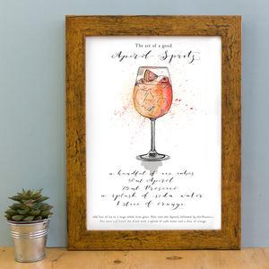 'The Art Of A Good Aperol Spritz' Print