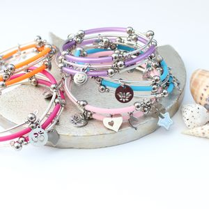 Colour Pop Stack Bracelets With Charms