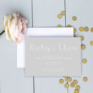 Modern Classic Wedding Invitation Suite - wedding stationery