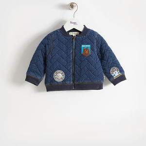 Mika Denim Quilted Baby Jacket - coats & jackets