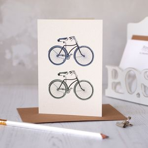 Bicycle For Two Card