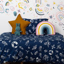 Navy Space Age Single Bed Duvet Set