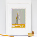 New York Stamp Print