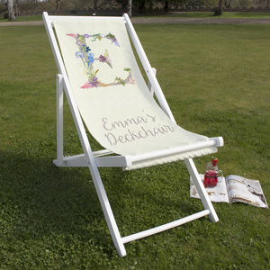 Personalised Letter Beach And Garden Deckchair - gifts for grandmothers