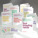 Funny Christmas Cards 12 Pack: The 12 Days Of Christmas