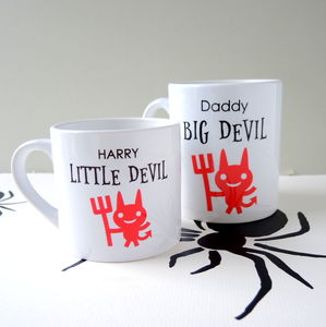 Personalised Big Devil Little Devil Mug - tableware