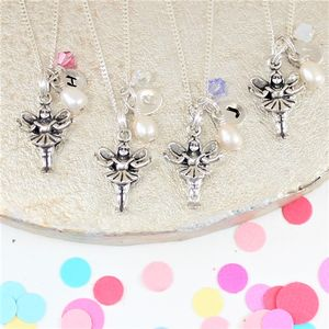 Silver Fairy Necklace With Initial Charm - children's jewellery