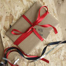 Leather belt by John Todd in a gift box, Gift wrapped.