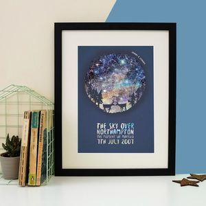 Personalised Deer Couple Star Map Print - valentine's gifts for her