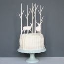 Winter Scene Cake Topper