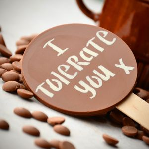 'I Tolerate You' Chocolate Lollipop - chocolates & confectionery