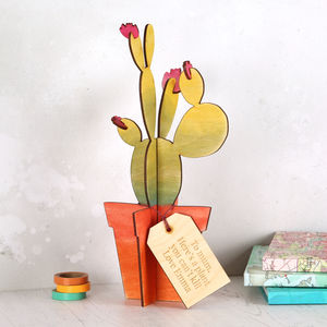 Personalised Wooden Cactus Plant - personalised gifts for mothers
