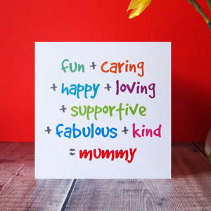 'Mummy' Mother's Day Card