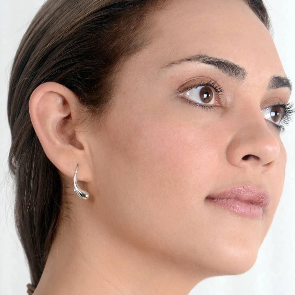 Unusual Sterling Silver Everyday Earrings