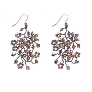 Rose Gold Chandelier Earrings - earrings