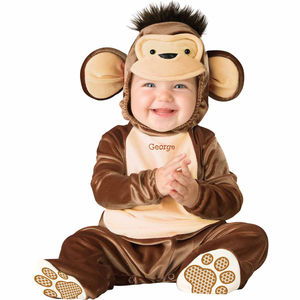 Baby's Monkey Dress Up Costume Personalised