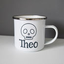 Halloween Enamel Personalised Mug