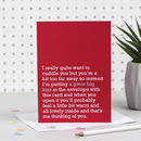 Great Big Kiss : Valentines Love : Thinking Of You Card