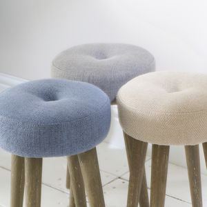 St James Round Padded Stool