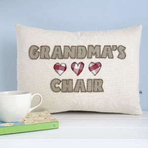 Personalised Hearts Cushion - baby's room