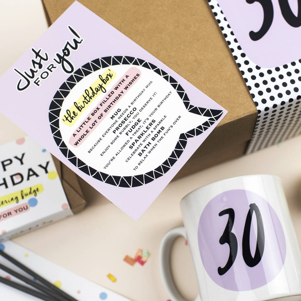 30th Birthday Gift Box In A