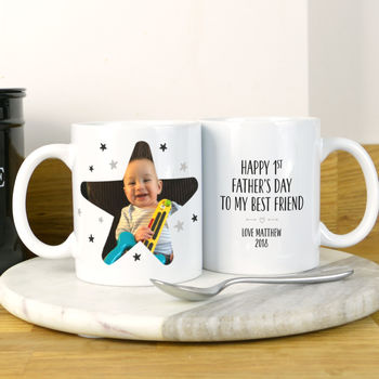 First Father's Day Photo Mug For Daddy Or Grandad