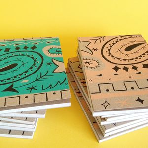 Bandana Screen Printed Notepad - stationery sale