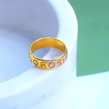 Personalised Band Ring By Mood Good X Holly St Clair